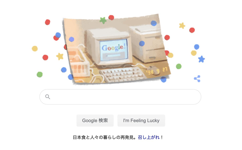 Google様、お誕生日おめでとうございます。